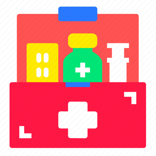 books, chest, drugs, medical, pharmacy, pills, tablet icon