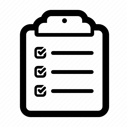 check checklist clipboard completed list survey icon
