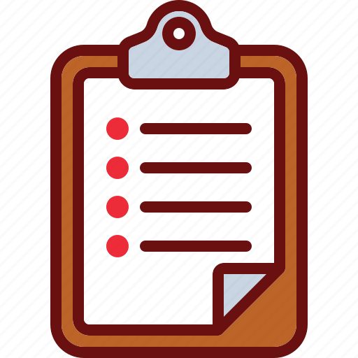 clipboard, document, list, text, to-do icon