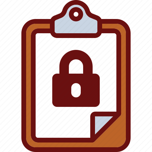 clipboard, lock, protection, safe, security icon