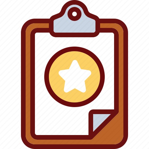 clipboard, favorite, selected, star icon