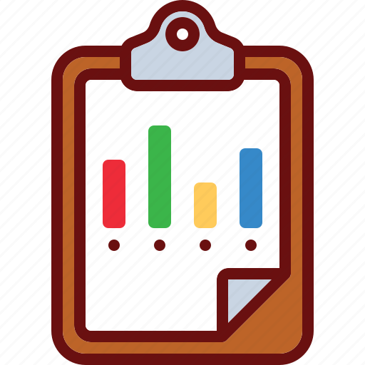 business, chart, clipboard, data, finance icon