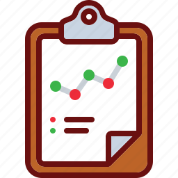 business, clipboard, finance, graph, line icon