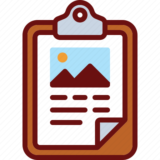 clipboard, document, image, picture, presentation, text icon