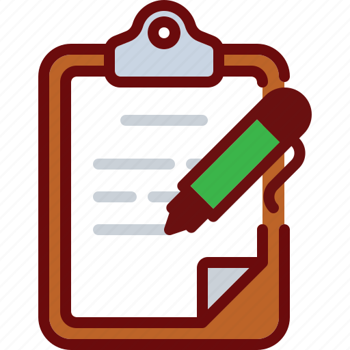 clipboard, document, edit, pen, text, write icon