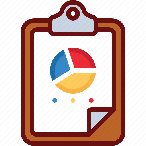 business, chart, clipboard, data, finance, piechart icon