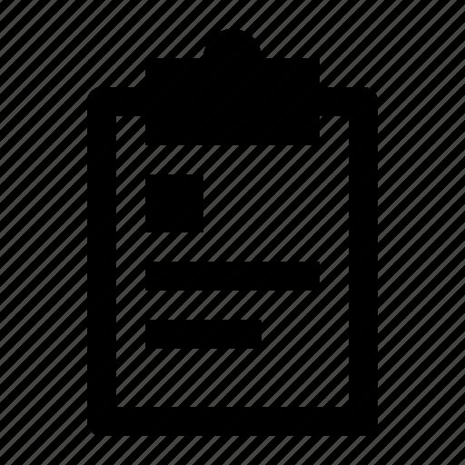 biograph, board, clipboard, document, note, profile, report icon