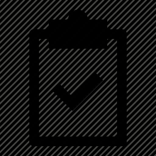 board, clipboard, correct, document, note, report, verify icon