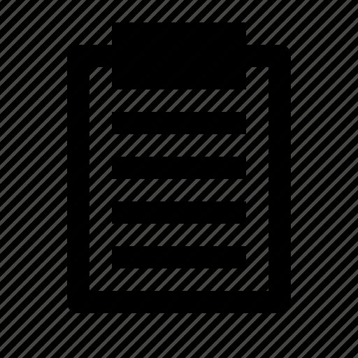 board, checklist, clipboard, document, list, notes, report icon