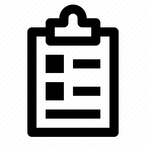 board, clipboard, document, list, notes, person, report icon