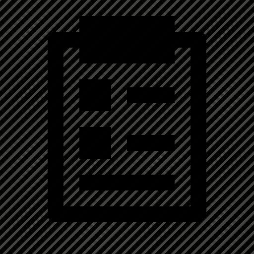 board, clipboard, document, list, notes, person, report icon