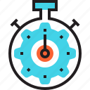 clock, cog, deadline, sport, stopwatch, time, timer icon