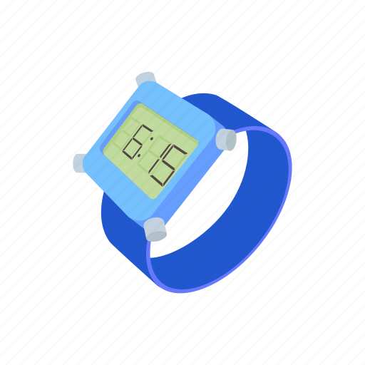 cartoon, clock, digital, time, watch, wrist, wristwatch icon