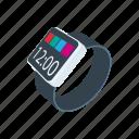 app, cartoon, digital, gadget, smartwatch, wearable, wrist icon