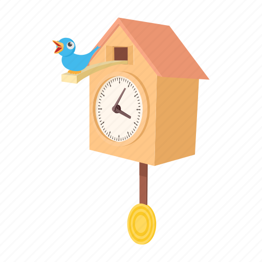 cartoon, clock, cuckoo, decoration, old, pendulum, time icon