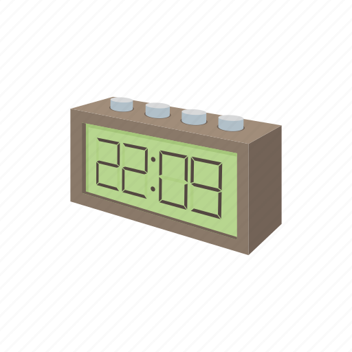 alarm, cartoon, minute, modern, number, time, watch icon