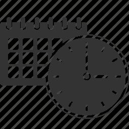 alarm, alert, calendar, clock, date, event, time icon