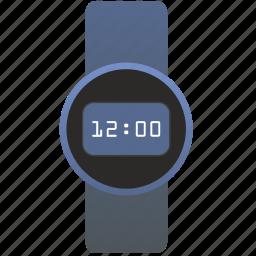 clocks, digital, metal, modern, steel, watches icon