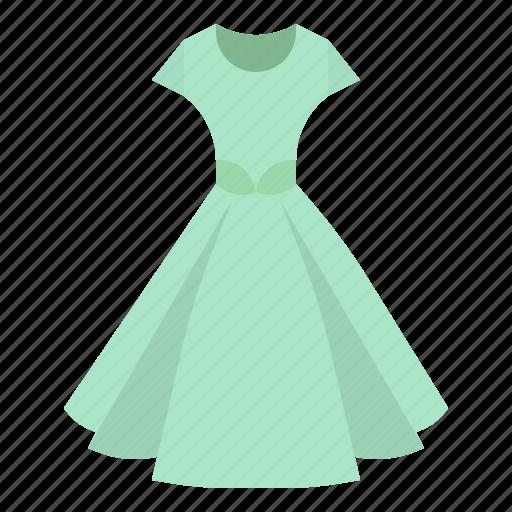 clothing, dress, female, feminine, skirt icon