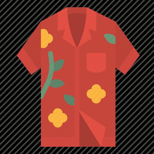 fashion, garment, hawaii, shirt, tropical icon