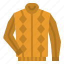 clothing, garment, jersey, pullover, sweater icon