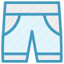 clothe shorts, fashion, jeans, man, nicker icon