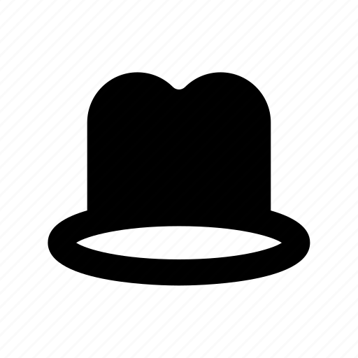 hat, high hat, mens trilby, tall hat, trilby hat icon