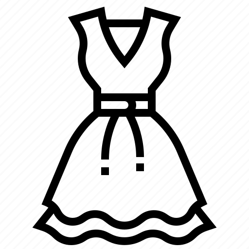 clothing, dress, frock, gown, woman icon