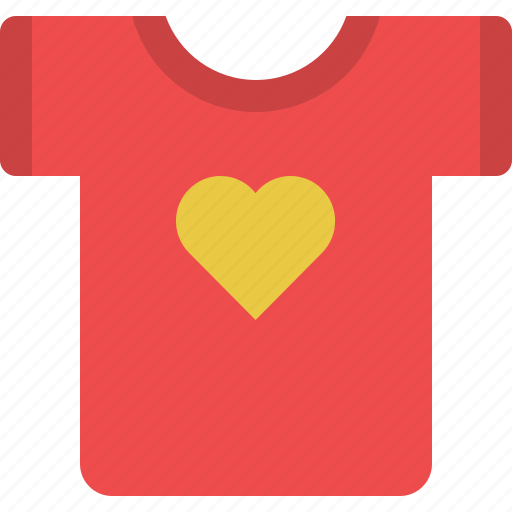 clothes, clothing, heart, shirt, tshirt icon
