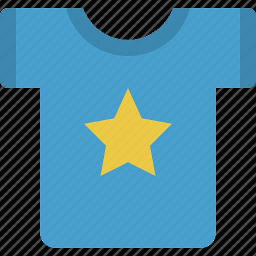 cloth, clothes, clothing, shirt, star, tshirt icon