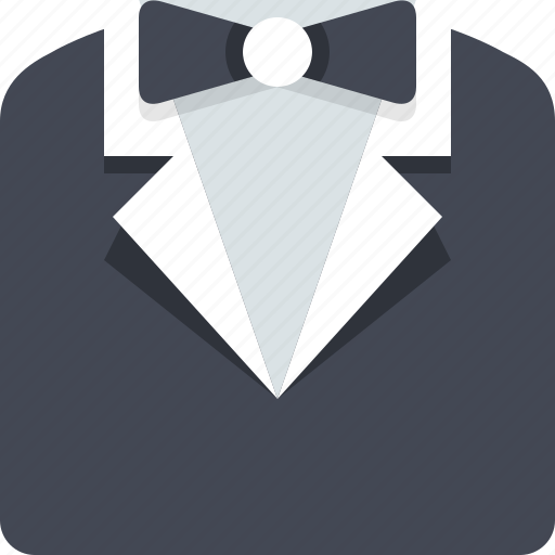 clothes, clothing, formal, official, suit, tuxedo icon