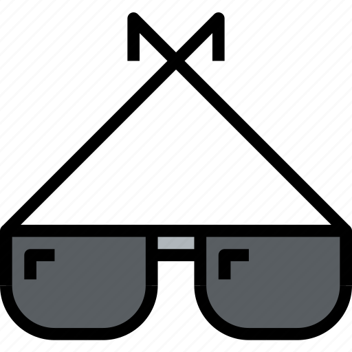 accessories, clothe, clothing, glasses icon