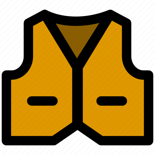accessories, clothes, clothing, fashion, vest icon