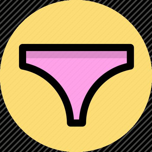 briefs, clothes, knickers, underpants, underwear icon