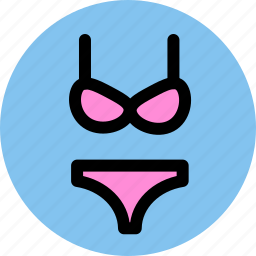 bra, briefs, clothes, knickers, underpants icon