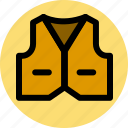 clothes, fashion, vest icon