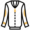 cardigan, clothing, long, shirts, sleeve icon