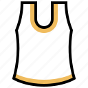clothing, garment, sleeveless, undershirt, vest icon