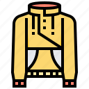 shirt, topcoat, sweatshirt, jumper, collar icon