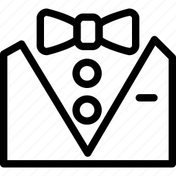 bow, coat, creative, formal, grid, line, shape, style, suit, tux, tuxedo icon