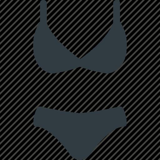 beach, bikini, siute, summer, swimming icon