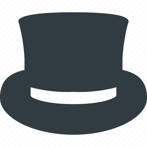 cylinder, hat, magician, retro icon