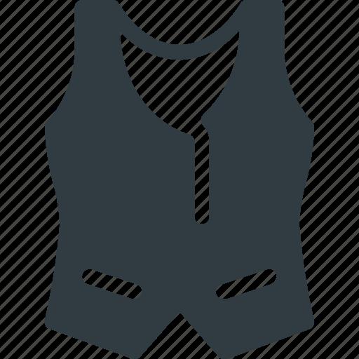Elegant, vest, hypster icon