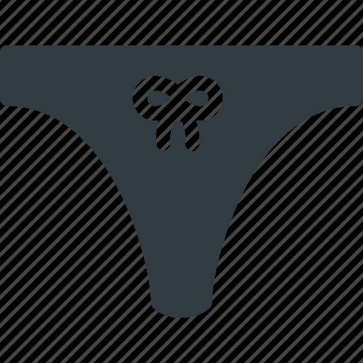 bikini, cloth, tanga, underear icon