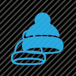 beanie, cold, hat, winter icon