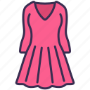 clothes, dress, fashion, outfit, shopping, wearing icon