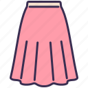 clothes, fashion, long, outfit, skirt, wearing icon