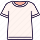 clothes, clothing, collar, neck, outfit, t-shirt, wearing icon