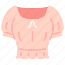 clothes, croptop, fashion, outfit, shopping, smock, wearing icon