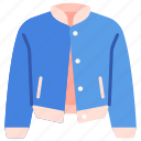 baseball, clothes, fashion, jacket, outfit, sport, sweater icon